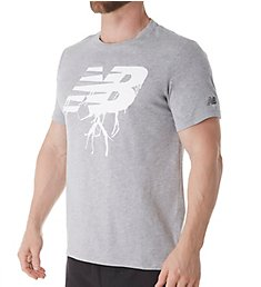 New Balance Logo Heathertech T-Shirt MT81082