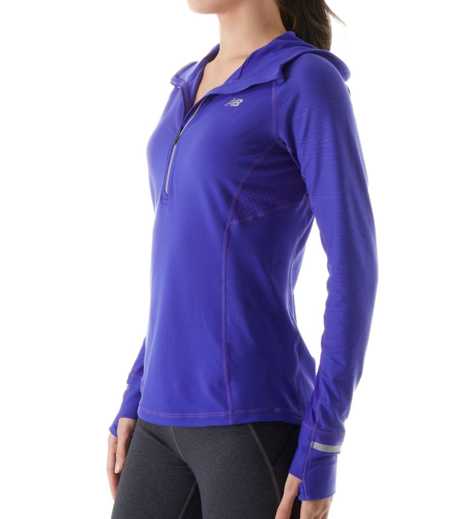 New Balance NB Heat Half Zip with Hood WT63220