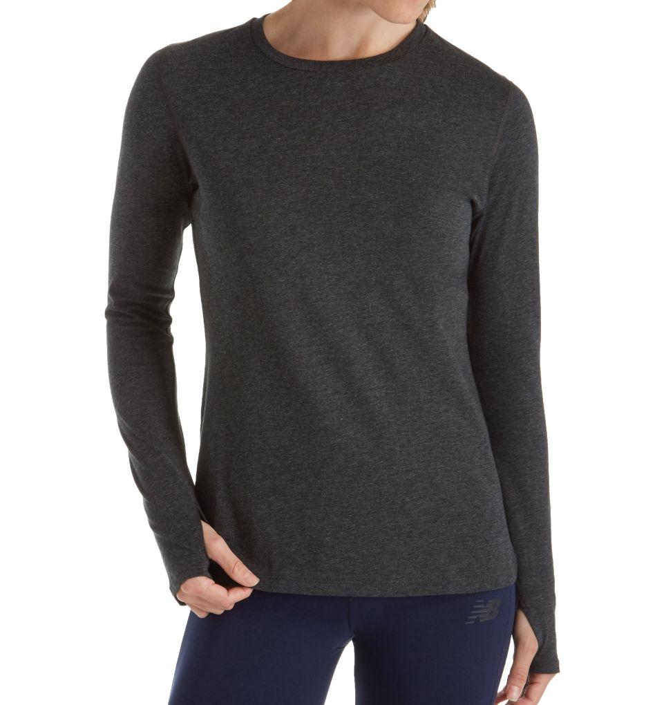 New Balance NB Dry Heather Tech Long Sleeve T-Shirt WT73127