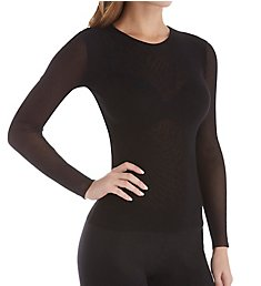 Only Hearts Tulle 2 Ply Long Sleeve Crew Neck Tee 43693