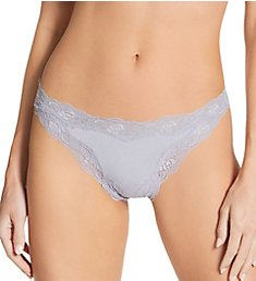 Only Hearts Organic Cotton Lace Trim Thong 50841
