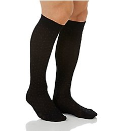 Pantherella Pindot Over The Calf Cotton Lisle Fancy Socks 63611