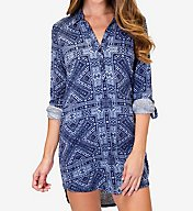 PJ Salvage Blue Batik Sleepshirt RCBBNS