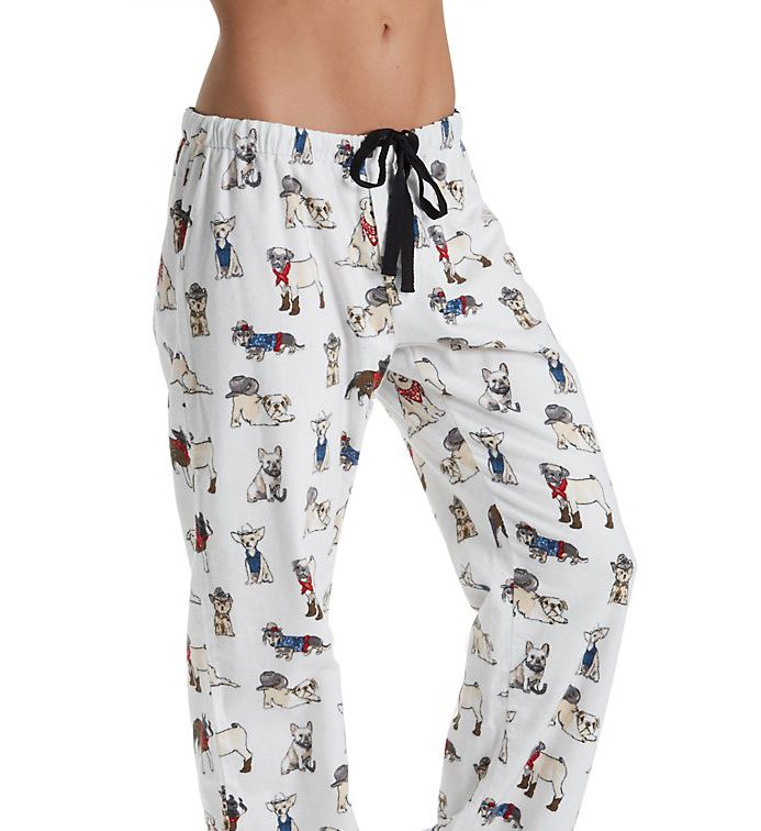 PJ Salvage Fantastic Flannels Cool Cowboy Dogs Pajama Pant REDOP