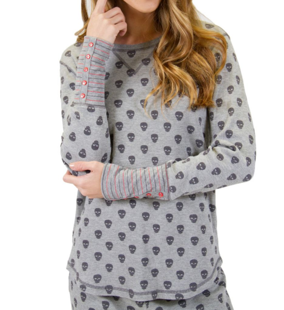 PJ Salvage Skull Canyon Thermal Long Sleeve Top RESCLS