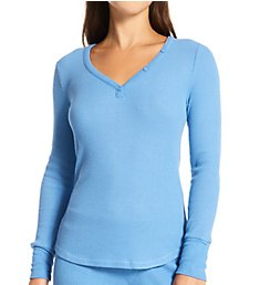 PJ Salvage Textured Essentials Rib Peachy Long Sleeve Shirt RITELS