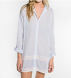PJ Salvage Feelin' Blue Button Front Sleepwear RJFBNS