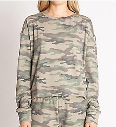 PJ Salvage Kind is Cool Camo French Terry Long Sleeve Top RNKCLS