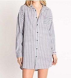 PJ Salvage Mon Cheri Life is Sweet Striped Cotton Sleepshirt RNMCNS