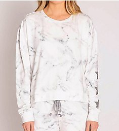 PJ Salvage Marble Lounge French Terry Long Sleeve Top RNMLLS