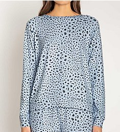 PJ Salvage Peachy Party Leopard Top RSPPLL