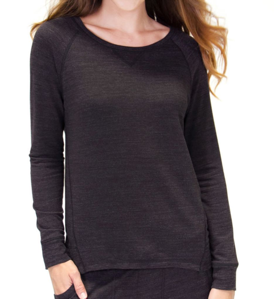 PJ Salvage Lounge Essentials French Terry Long Sleeve Top RZLELS