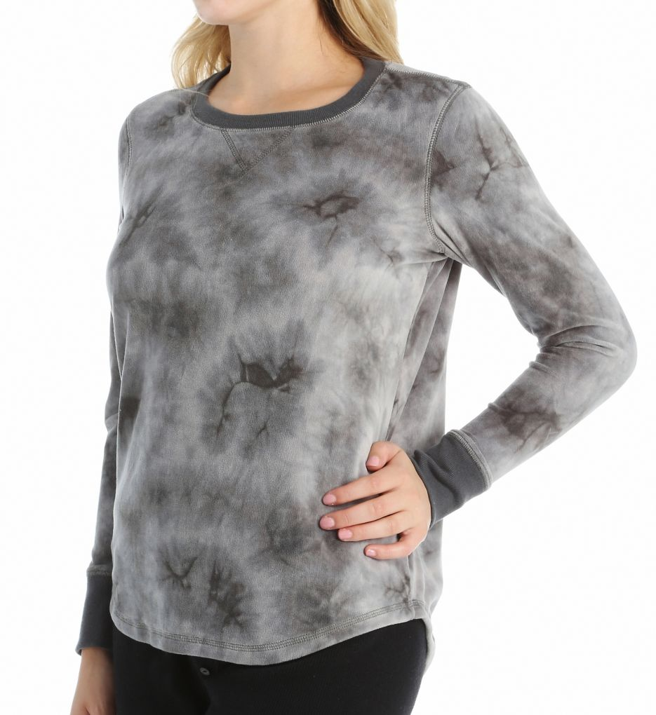 PJ Salvage Shades of Grey Velour Long Sleeve Top VTIELS