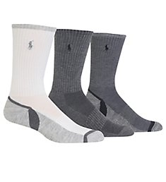 Polo Ralph Lauren Athletic Crew Sock With Polo Embroidery - 3 Pack 821220PK