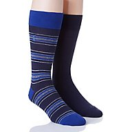 Polo Ralph Lauren Blue Stripe Crew Dress Socks - 2 Pack 899677PK