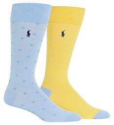 Polo Ralph Lauren Pastel Neat Crew Socks - 2 Pack 899796PK
