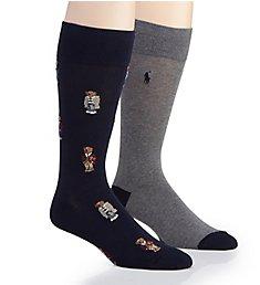 Polo Ralph Lauren Bear Quad Crew Socks - 2 Pack 899819PK