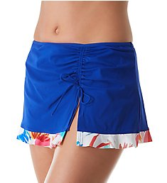 Profile by Gottex Splash Side Slit Skirted Brief Swim Bottom 2601P92