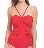 Profile by Gottex Swan Lake Bandeau Tankini Swim Top 6521B12