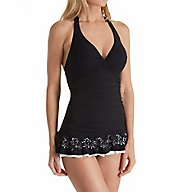 Profile by Gottex Enchantment Tummy Control Halter Swim Dress 7322001