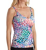 Profile by Gottex Canary Islands D/E Cup Underwire Tankini Swim Top 7351D46