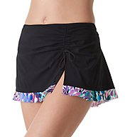 Profile by Gottex Canary Islands Side Slit Skirted Brief Swim Bottom 7351P92