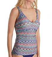 Profile by Gottex Marimba D/E Cup Underwire Tankini Swim Top 7371D46