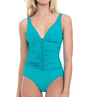 Profile by Gottex Waterfall D-Cup Tummy Control One Piece Swimsuit 7382D31