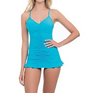 Profile by Gottex Swan Lake Tummy Control One Piece Swim Dress 7402017