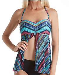 Profile by Gottex Cozumel Multiway Flyaway Tankini Swim Top 7611B19