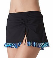 Profile by Gottex Blue Nile Side Slit Skirted Brief Swim Bottom 7641P92