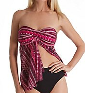 Profile by Gottex Indian Sunset Multiway Flyaway Tankini Swim Top 7711B19