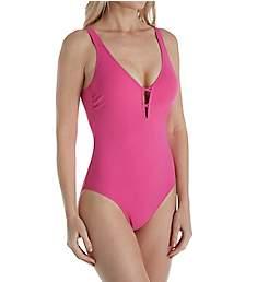 Profile by Gottex Java V-Neck Macrame Back One Piece Swimsuit 8312074
