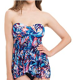 Profile by Gottex Tahiti Bandeau Flyway One Piece Swimsuit 8332045