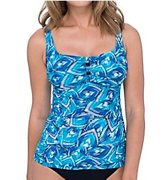 Profile by Gottex Birds Of A Feather Round Neck Tankini Swim Top 9371B33