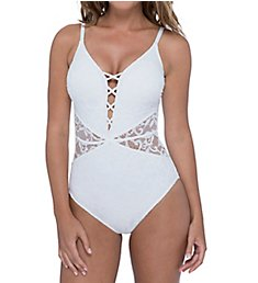 Profile by Gottex Shalimar V-Neck Lacey One Piece Swimsuit 9382074