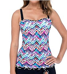 Profile by Gottex Fantasia Underwire Tankini Swim Top 9391D18