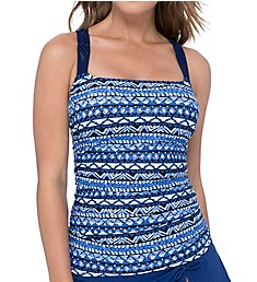 Profile by Gottex Folklore Underwire Tankini Swim Top 9461D37