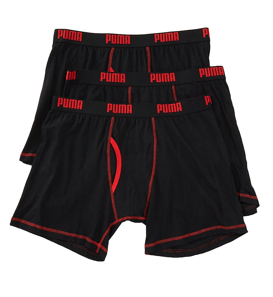 Puma Core Performance 100% Cotton Boxer Briefs - 3 Pack PMCBB