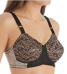 Rago Lacette Satin and Lace Wireless Support Bra 2101
