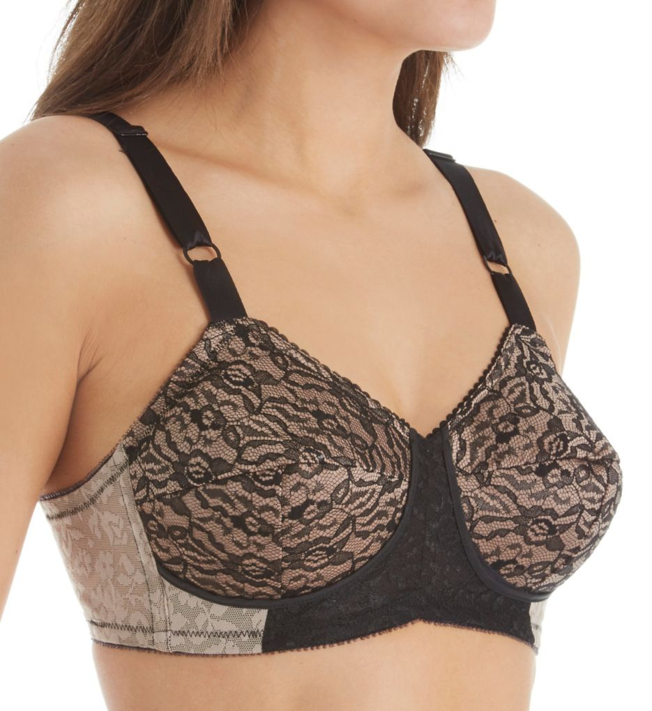 Rago Satin and Lace Support Bra 2101