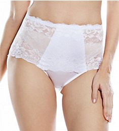 Rhonda Shear Full Coverage Lace Brief Panty 3901