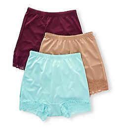 Rhonda Shear Pin Up Lace Trim Hi-Waisted Panty Mystery - 3 Pack 4009X3