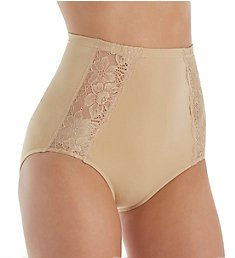 Rhonda Shear Seamless Panty with Lace Inset Detail 4222
