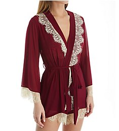 Rhonda Shear Up All Night Lace Trim Robe 4810