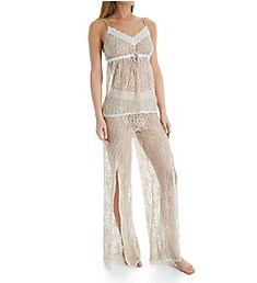 Rhonda Shear Up All Night Stretch Lace Cami and Pant Set 4812
