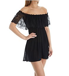 Rhonda Shear Up All Night Off the Shoulder Nightie with Panty 4814