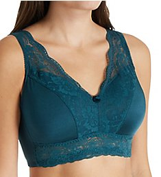 Rhonda Shear Ahh Pin-Up Lace Leisure Bra with Removable Pads 672P