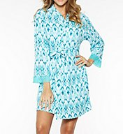 Rhonda Shear Ahh Printed Short Robe 7906