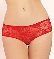Seven 'til Midnight Open Crotch Ruffle Back Lace Boyshort Panty STM9294